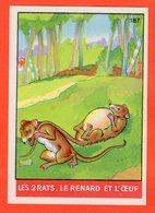 IMAGE POUR ALBUM COLLECTEUR IMPERIAL - FABLES DE LA FONTAINE 187 - LES 2 RATS, LE RENARD ET L'ŒUF - Autres Collections