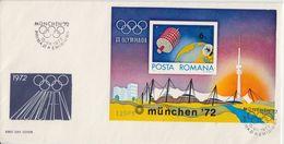 Rumänien - Olympiade München 1972 Olympiastadion Block 98 Schmuck-FDC - Roumanie