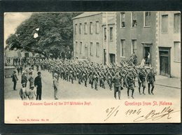 CPA - Greetings From ST HELENA - The Advance Guard Of The 3rd Wiltshire Regt, Très Animé  (dos Non Divisé) - Sainte-Hélène