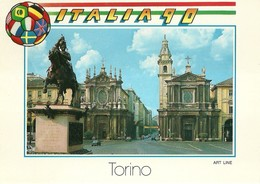 """3077 """" ITALIA 90 -SERIE DI 8 CARTOLINE DI TORINO-VARIE """" CARTOLINA POSTALE ORIGINALE NON SPEDITA - Italie"""