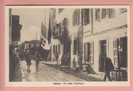 OLD POSTCARD -   ALBANIA - VALONA - VIA DELLA PREFETTURA - Albanie