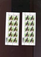 Belgie Andre Buzin Birds 3939 Volledig Vel  Plaatnummer 1 Donker En Lichtgroene NUANCE !! - 1985-.. Pájaros (Buzin)