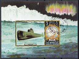 Umm Al Qiwain 1971 Bf. 60B Sommergibile Nautilus Sub-marine Sheet Imperf. CTO - Umm Al-Qiwain