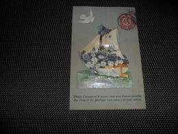 Carte Celluloïd ( 94 )  En Celluloïde  Cellulo  + Collage ( Ajoutis ) - Cartes Postales