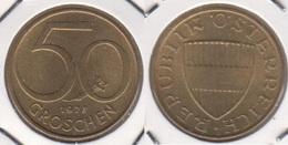 AUSTRIA 50 Groschen 1977 KM#2885 - Used - Austria