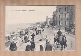 """VILLERS-sur-MER   Calvados     """" Les Planches """" Année 1907    Num 43   TRES ANIMEE - Villers Sur Mer"""