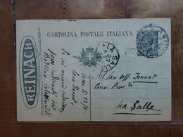 REGNO - Cartolina Postale Pubblicitaria - Reinach Da C.15 Viaggiata + Spese Postali - Storia Postale