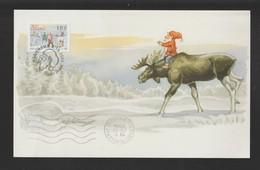 ÄLAND / FINLANDE - Carton Pour NOËL 2004 - Oblitération De MARIEHAMN - Voir Les 2 Scannes Face Et Dos - Aland