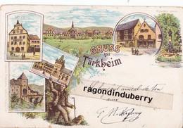 CPA - 68 - TURKHEIM - GRUSS AUS TURKHEIM Vers 1898 1900 - Vues Mutiples De La Villle - CARTE RARE - - Turckheim