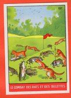 IMAGE POUR ALBUM COLLECTEUR IMPÉRIAL - FABLES DE LA FONTAINE 157 - LE COMBAT DES RATS ET DES BELETTES - Autres Collections