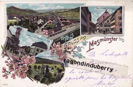 CPA - 68 - MASMUNSTER (MASEVAUX) - GRUSS AUS MASMUNSTER Vers 1898 1900 - Vues Mutiples De La Villle - CARTE RARE - - Masevaux