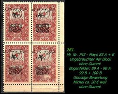 EARLY OTTOMAN SPECIALIZED FOR SPECIALIST, SEE...(Mi. Nr. 743) - Mayo 87 A + B - 1920-21 Anatolia
