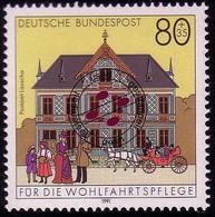 1566 Postamt Lauscha 80+35 Pf O - [7] République Fédérale