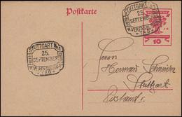 P 115 Nationalversammlung 10 PF Mit SSt STUTTGART Verfassungstag 25.9.1919 - Deutschland