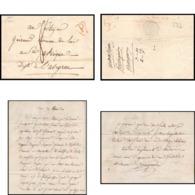 LAC Lettre Cover France 0577 Paris Marque Postale N°1008 Grande Poste Rouge 1803 Pour Saint-Affrique Aveyron Taxe 8 - 1801-1848: Précurseurs XIX