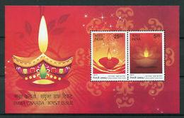 India MNH 2017, MS Canada Joint Issue, 'Diwali' Celebration, Festival - India