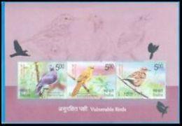 India MNH 2017, MS Vulnerable Birds, Bird, - India