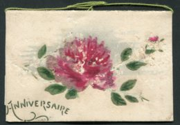 12124  CPA  Anniversaire   Fleur - Anniversaire