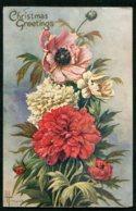 12127  CPA   Noël :  Pivoines Rouge, Blanche Et Arbuste (dite Du Japon)       1921 - Noël