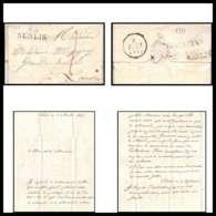 LAC Lettre Cover France 1721 Oise Marque Postale 27x11 Indice 6 Senlis Pour Louvres 3/4/1827 Voir Verso - Postmark Collection (Covers)