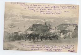 CPA 1904 HAUTE SAVOIE PASSY ANIME ATTELAGE CHEVAL PAYSAN BE - Passy