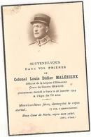 Colonel Louis Didier Malézieux Croix De Guerre 1914 1918 144 Regiment èm è - Imágenes Religiosas