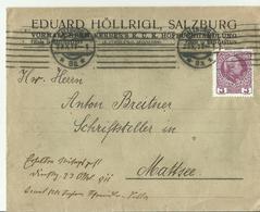 Osterriech Cv.  1911 Reklame Salzburg Hofbuchhaltung - Cartas