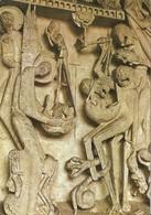 CP SCULPTURE - AUTUN CATHEDRALE SAINT LAZARE - PESEES DES AMES - TYMPAN XII ème SIECLE - Sculture