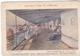 Cpa 2 Scans Publicité Eau Pougues Les Eaux -compagnie Des Méssageries Maritimes Paquebot Paul Lecat Illustrateur Sebille - Pougues Les Eaux
