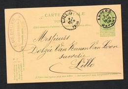 // OUDE POSTKAART  CARTE POSTALE  ANVERS - LILLO  1908 - 1893-1907 Armarios