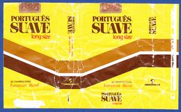 Portugal 1960 To 1970, Packet Of Cigarettes - PORTUGUÊS SUAVE / A Tabaqueira, Lisboa - Empty Cigarettes Boxes