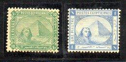 XP4643 - EGITTO 1884, Yvert N. 32+34  Nuovi  *  (2380A) - Egitto