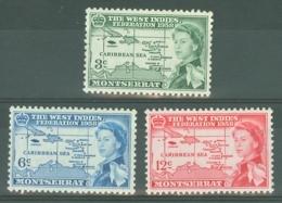 Montserrat: 1958   British Caribbean Federation    MH - Montserrat