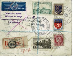 LETTRE AVIATION, MOZAMBIQUE/ FRANCE Expo Philatélique De La Poste Aérienne,8 OCT 1943 - France