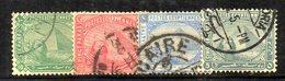 XP4644 - EGITTO 1884, Yvert Serie N. 32/35  Usata  (2380A) - Egitto