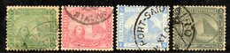 XP4646 - EGITTO 1884, Yvert Serie N. 32/35  Usata  (2380A) - Egitto