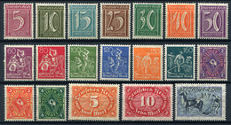 43572) DEUTSCHES REICH # 158-76 Postfrisch Aus 1921, 30.- € - Unused Stamps