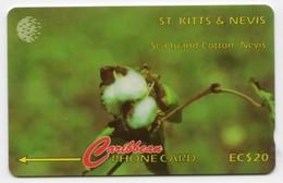 SAINT KITTS & NEVIS REF MV CARDS STK-77A Année 1996 20EC$ 77CSK SEA ISLAND COTTON - Saint Kitts & Nevis