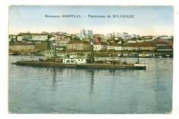 Serbia Beograd Panorama Statek Ship Ok 1915 R - Serbia