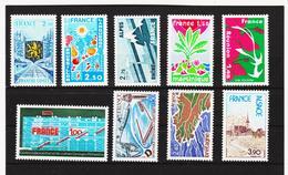 LKA249 FRANKREICH 1977 Michl 2006/11 + 2013/15 ** Postfrisch SIEHE ABBILDUNG - Frankreich