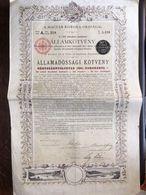 Titre Action Banque Du Royaume De Hongrie A Magyar Korona Orszagal Avec Coupons - Navigation