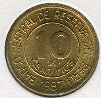 Pérou Peru 10 Centimos 1987 UNC KM 293 - Pérou