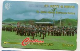 SAINT KITTS & NEVIS REF MV CARDS STK-95A Année 1996 20EC$ 95CSKA DEFENSE FORCE - Saint Kitts & Nevis