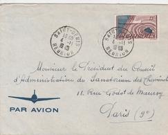 Réunion Lettre St Denis Pour Paris 1948 - Reunion Island (1852-1975)
