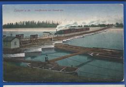 SPEYER    Schiffbrücke Mit Eisenbahn      écrite En 1922 - Speyer