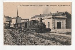 SAINT ETIENNE DES OULLIERES - LA GARE DU CHEMIN DE FER BEAUJOLAIS - 69 - Autres Communes