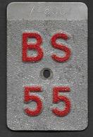 Velonummer Basel Stadt BS 55 - Number Plates