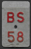 Velonummer Basel Stadt BS 58 - Plaques D'immatriculation