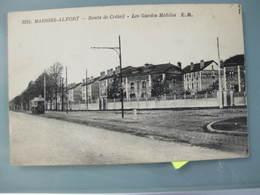 CPA Carte Postale Ancienne Maisons-alfort Route De Créteil Les Gardes Mobiles - Maisons Alfort