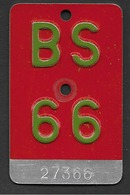 Velonummer Basel Stadt BS 66 - Plaques D'immatriculation